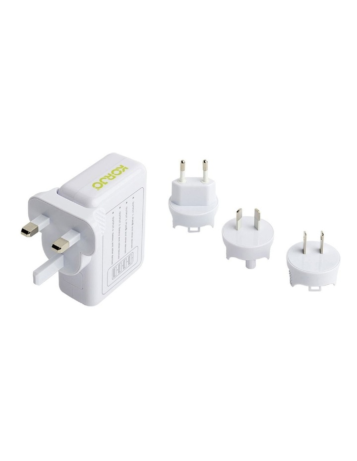 4-port USB charger with International plugs image 1