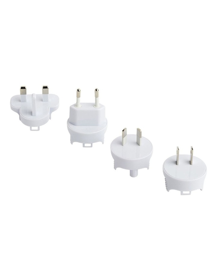 4-port USB charger with International plugs image 3