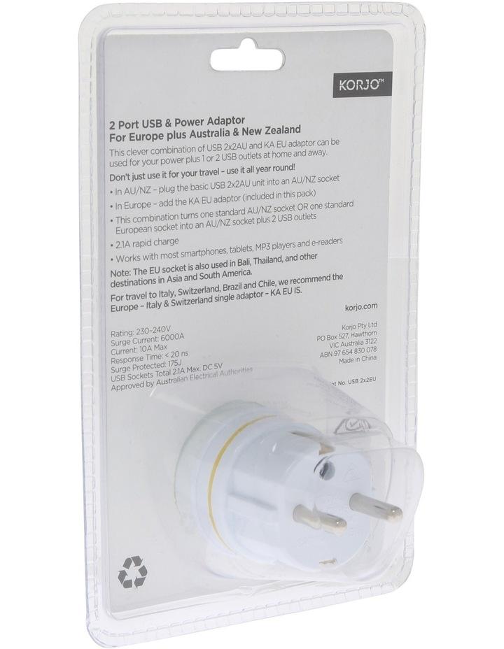 AUS & Europe USB & Power Adaptor : USB 2x2EU image 4