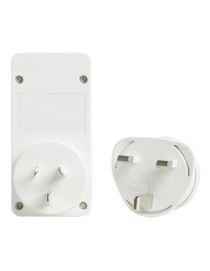 AUS & UK USB & Power Adaptor : USB 2x2UK image 3