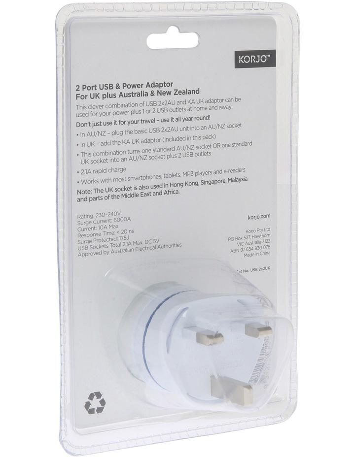 AUS & UK USB & Power Adaptor : USB 2x2UK image 4