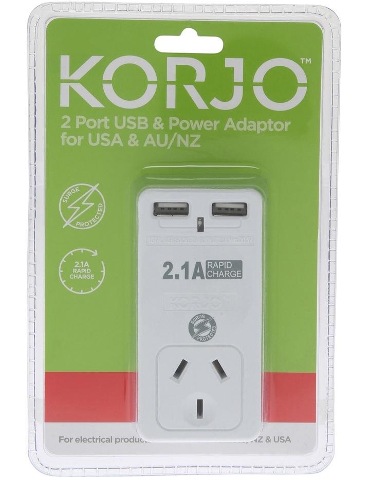 AUS & USA USB & Power Adaptor : USB 2x2US image 2