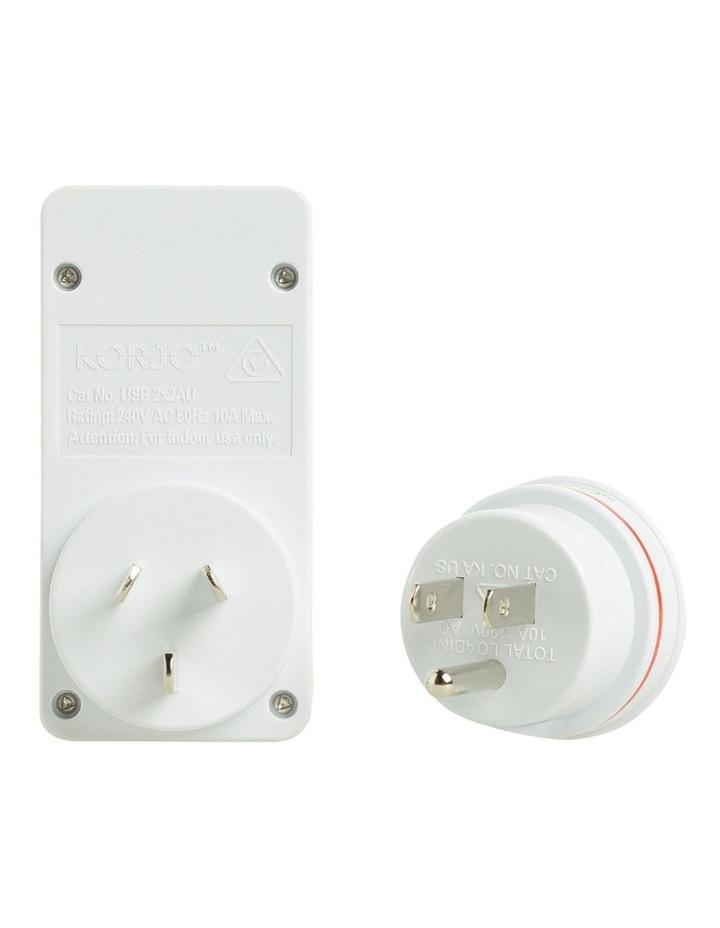 AUS & USA USB & Power Adaptor : USB 2x2US image 3