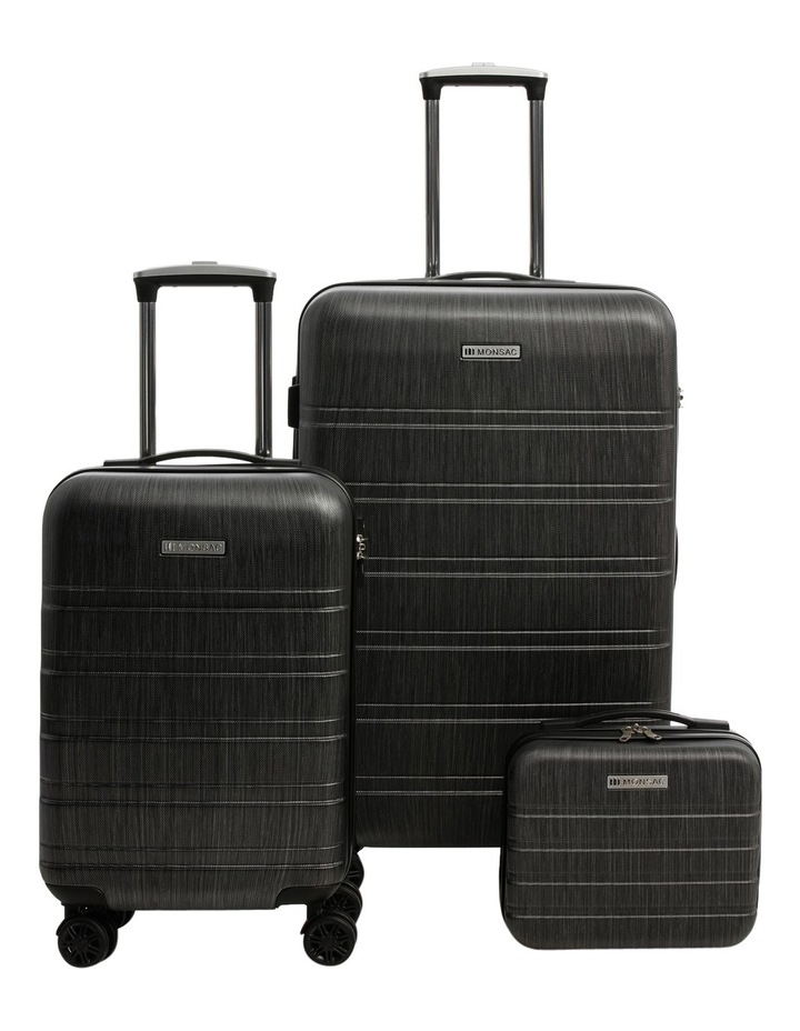 Metro 2 Piece Hardside Spinner Large & Cabin Set with Bonus Accessory Case - Charcoal image 1