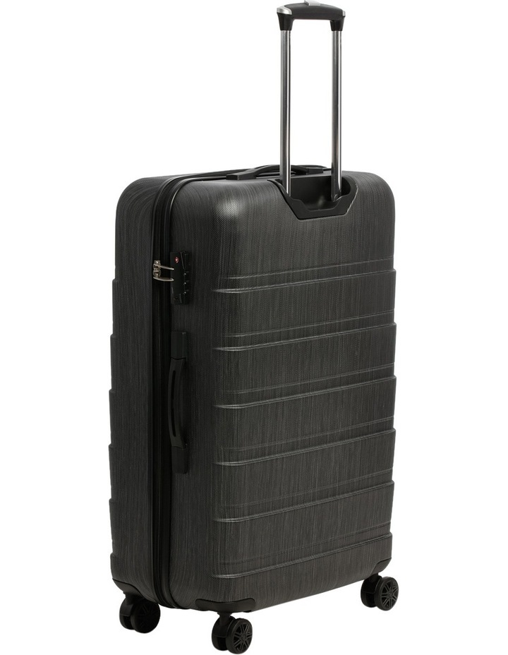 Metro 2 Piece Hardside Spinner Large & Cabin Set with Bonus Accessory Case - Charcoal image 2