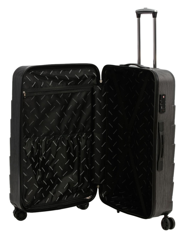 Metro 2 Piece Hardside Spinner Large & Cabin Set with Bonus Accessory Case - Charcoal image 3