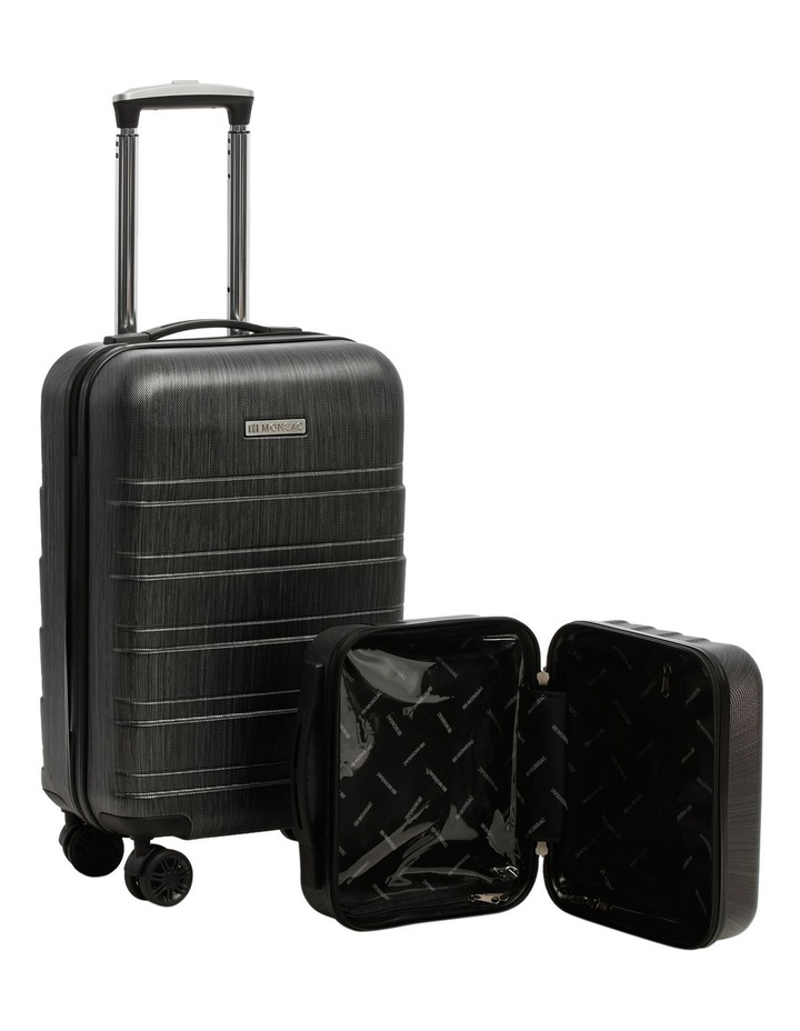 Metro 2 Piece Hardside Spinner Large & Cabin Set with Bonus Accessory Case - Charcoal image 4