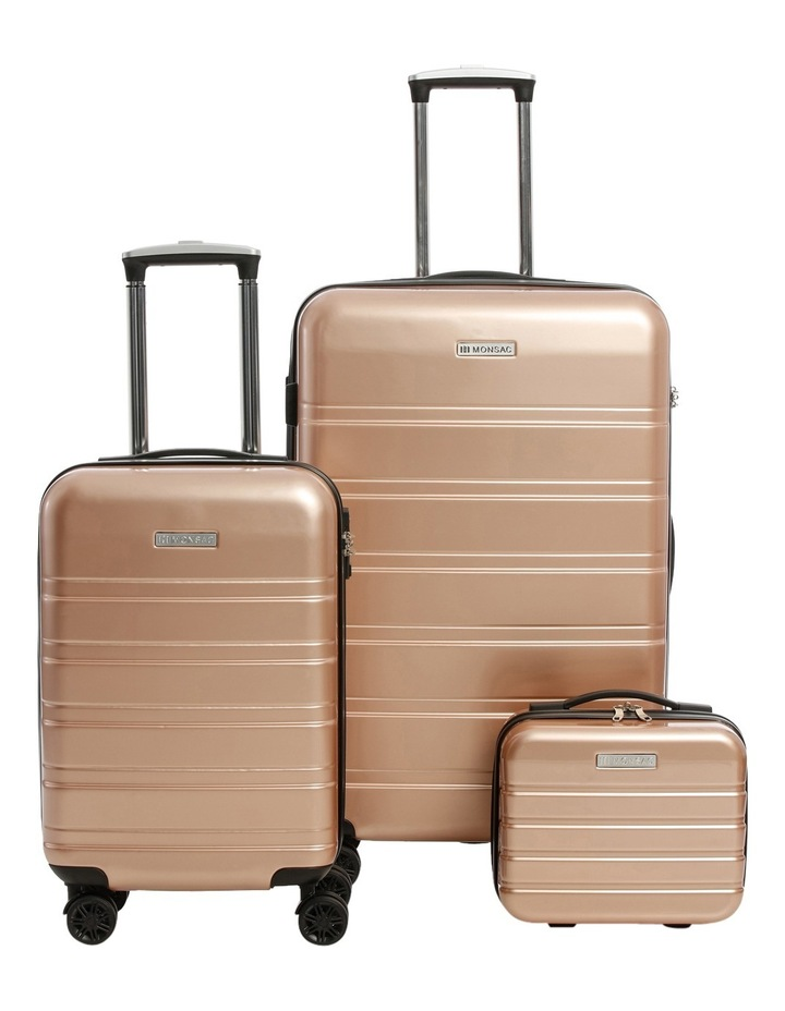 Metro 2 Piece Hardside Spinner Large & Cabin Set with Bonus Accessory Case - Champagne image 1