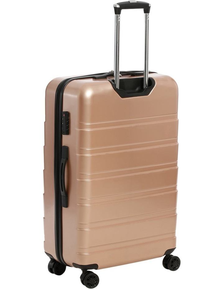 Metro 2 Piece Hardside Spinner Large & Cabin Set with Bonus Accessory Case - Champagne image 2