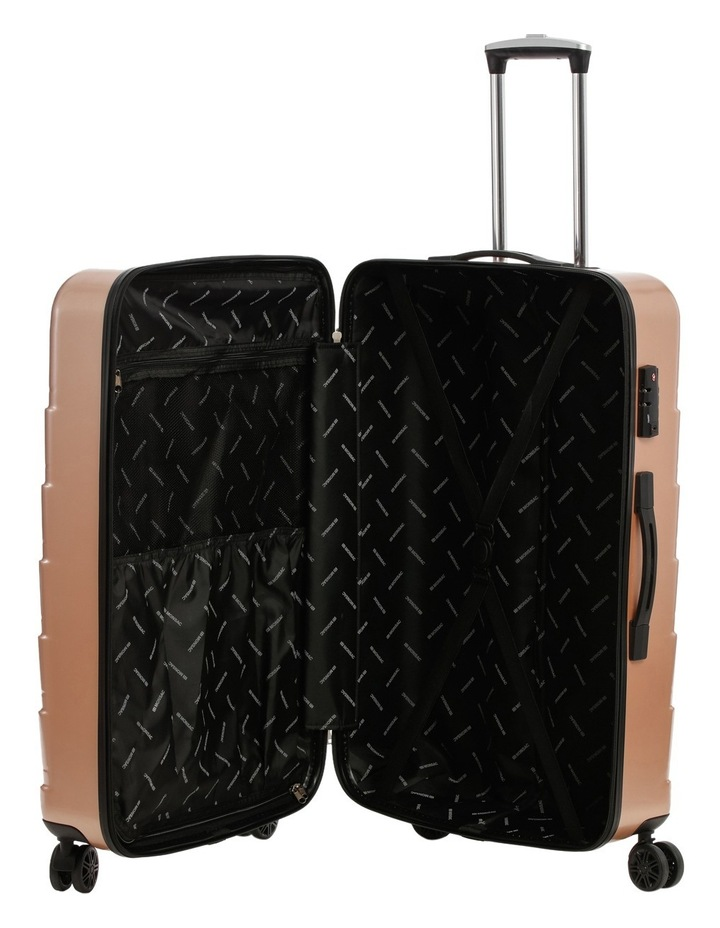 Metro 2 Piece Hardside Spinner Large & Cabin Set with Bonus Accessory Case - Champagne image 3