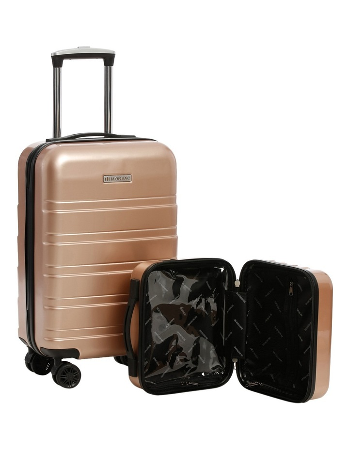 Metro 2 Piece Hardside Spinner Large & Cabin Set with Bonus Accessory Case - Champagne image 4