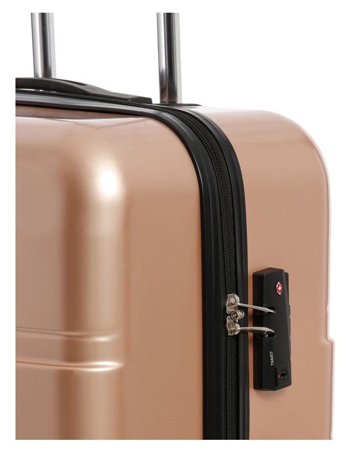 Metro 2 Piece Hardside Spinner Large & Cabin Set with Bonus Accessory Case - Champagne image 5