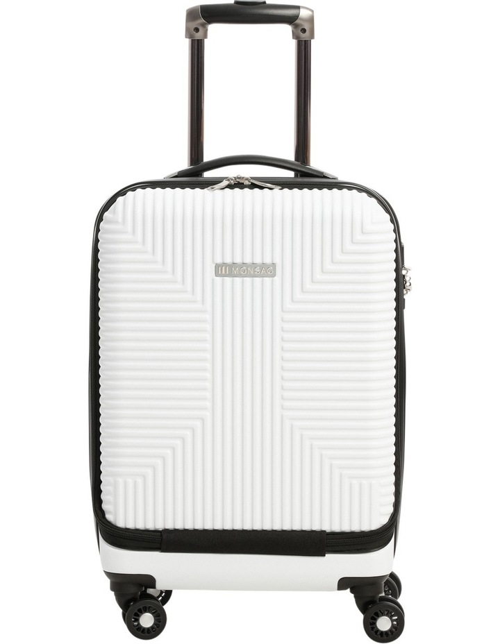 Business Cabin Carry on with Bonus 7 Piece Travel Accessory Pack - White image 1