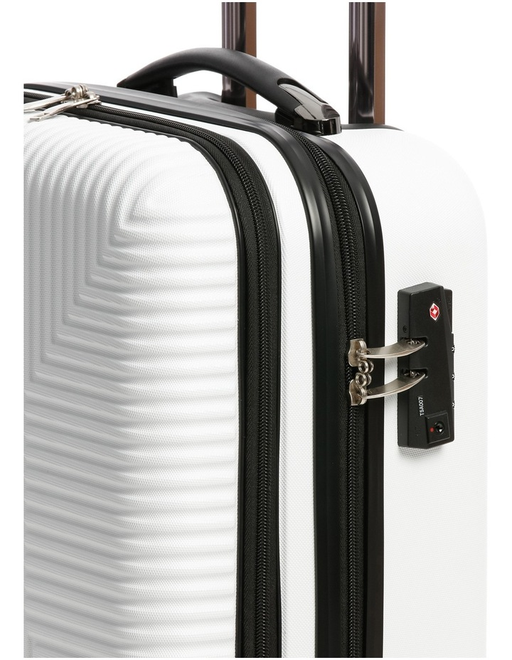 Business Cabin Carry on with Bonus 7 Piece Travel Accessory Pack - White image 5