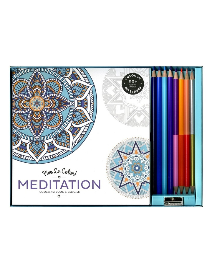 Vive Le Color Vive Le Color! Meditation Coloring Book & Pencils Set