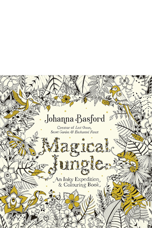 A Jungle Themed Colouring Book This Adult Features Intricate Pen And Ink Illustrations Of Exotic Animals Vegetation To Complete Colour