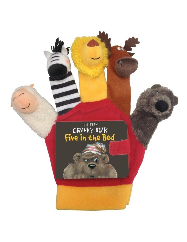 The Very Cranky Bear Five In The Bed Book With Hand Puppet Set By Nick Bland image 1