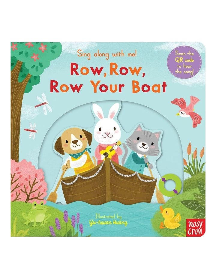 Sing along with me! Row  Row  Row Your Boat book illustrated by Yu-hsuan Huang (hardback) image 1