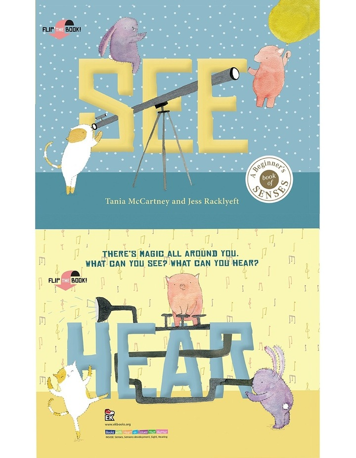 See Hear written by Tania McCartney & illustrated by Jess Racklyeft (Hardback) image 1