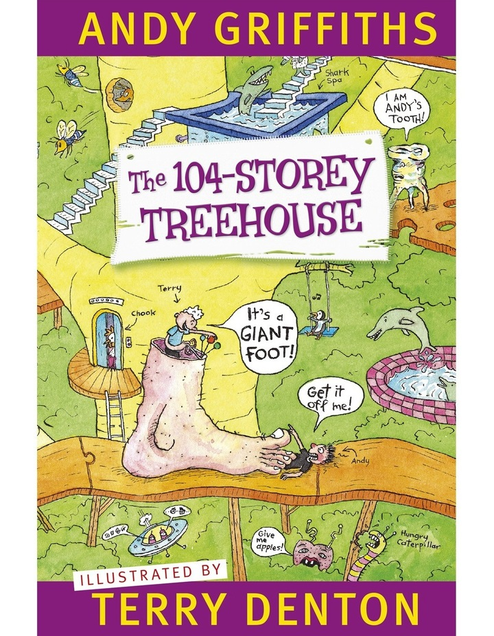 The 104-Storey Treehouse by Andy Griffiths & Terry Denton (paperback) image 1