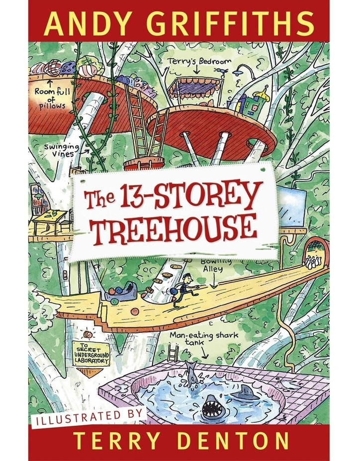 The 13-Storey Treehouse written by Andy Griffiths & illustrated by Terry Denton (paperback) image 1