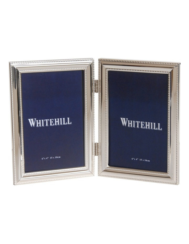 Silver Plate Bead Photo Frame - Double image 1