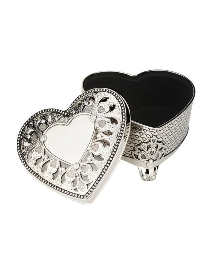 Heart Shaped Box with Crystal image 1