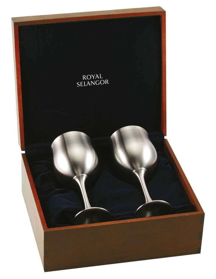 Water Goblet Pair in Gift Box image 1