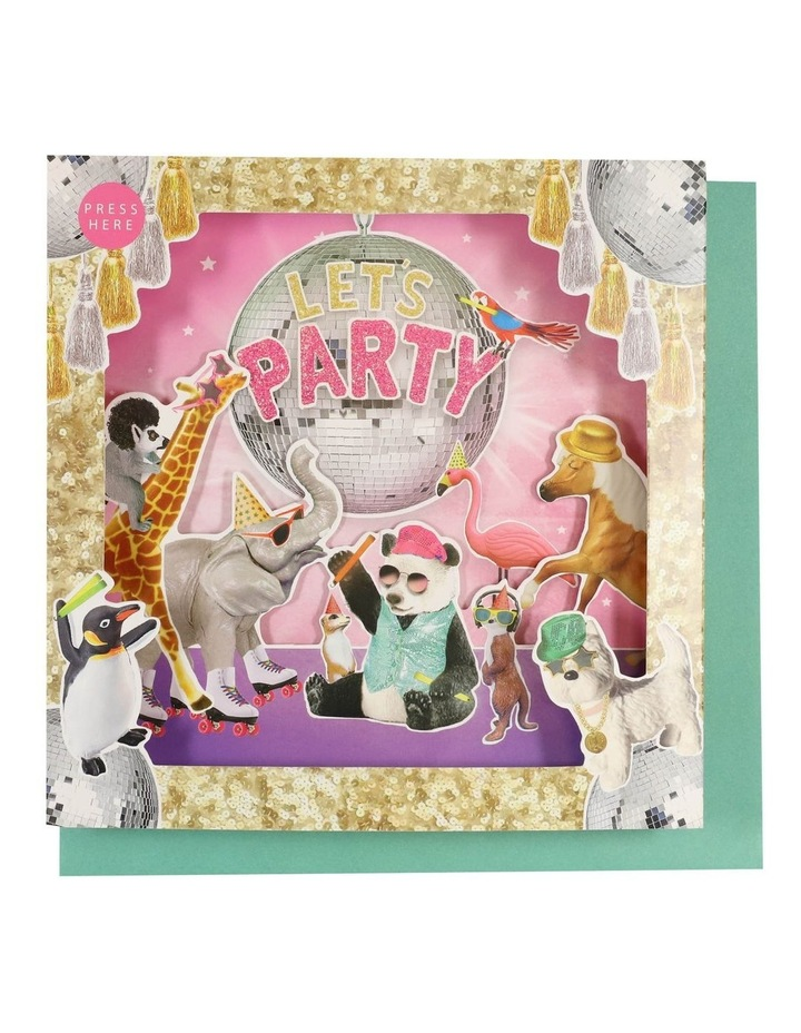 Party Animals Disco Ball Musical Card image 1