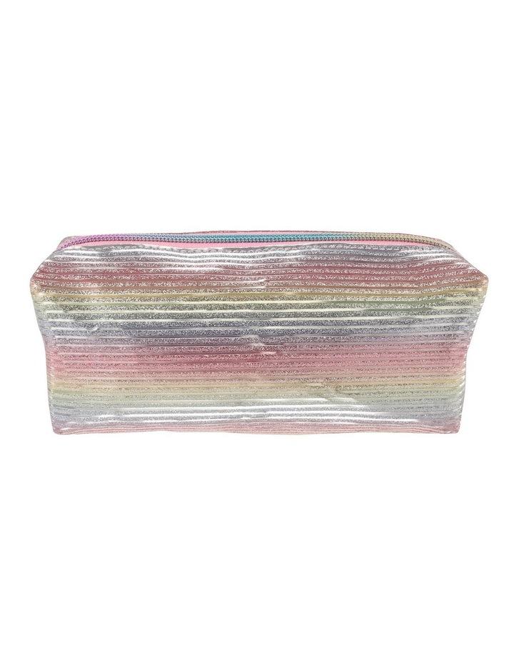 Rainbow stripe Square Pencil Case image 1