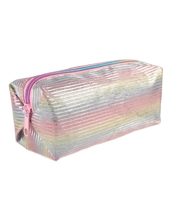 Rainbow stripe Square Pencil Case image 2