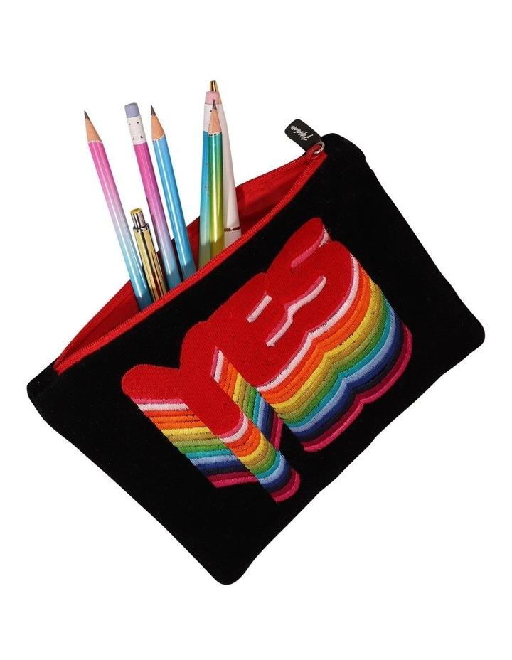 Velvet Rainbow Yes Pencil Case image 2