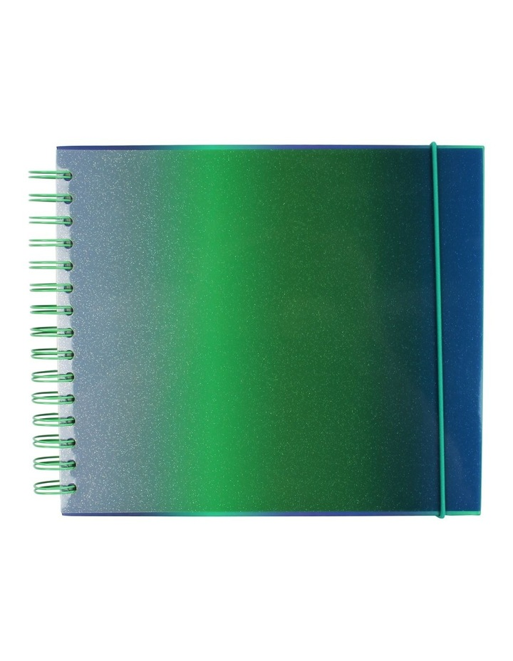 Small Green And Blue Ombre Pvc Scrapbook image 1