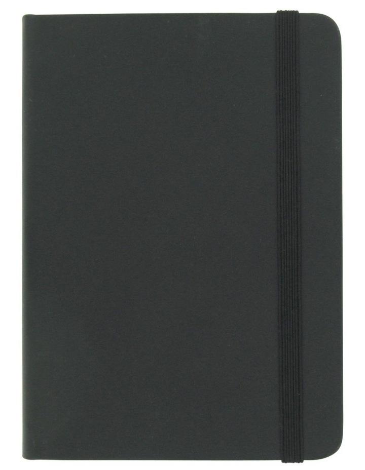 Agenzio Small Black Hardback Plain Notebook image 1