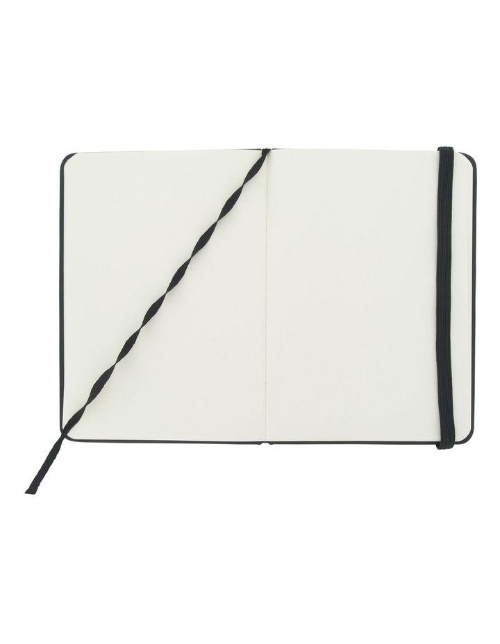 Agenzio Small Black Hardback Plain Notebook image 2
