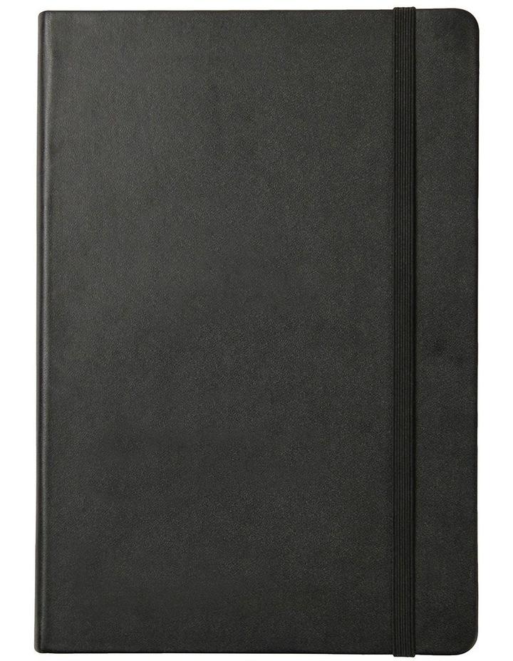 Paperchase Agenzio medium black hardback ruled notebook image 1