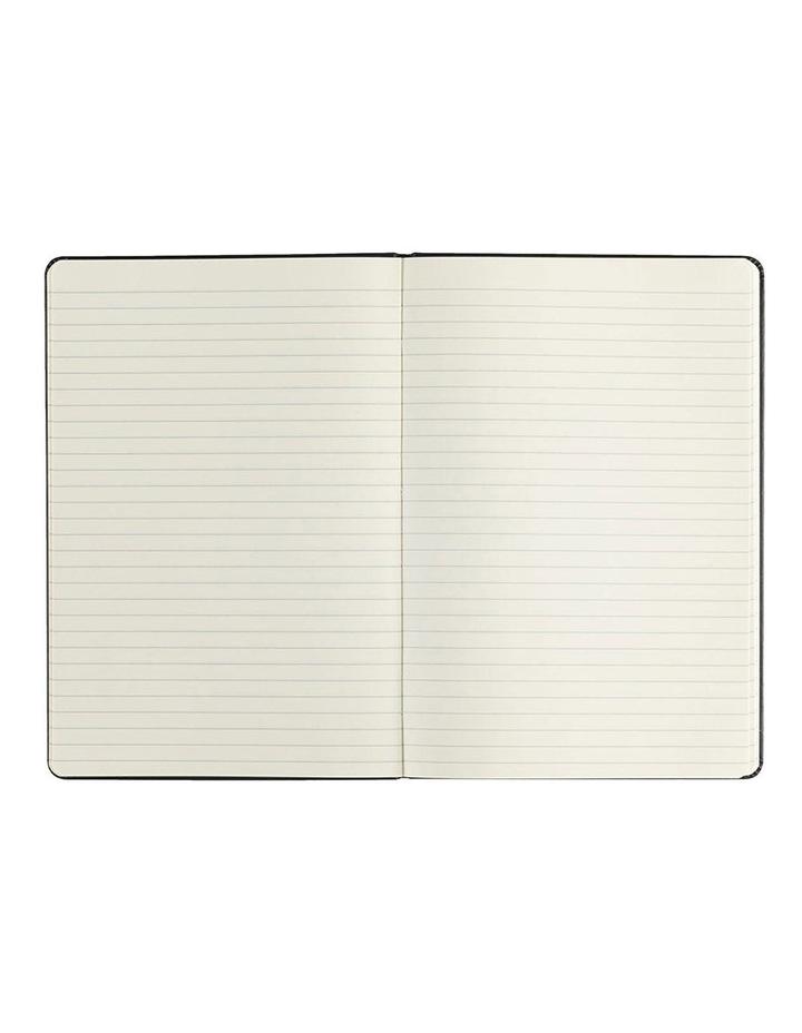 Paperchase Agenzio medium black hardback ruled notebook image 2