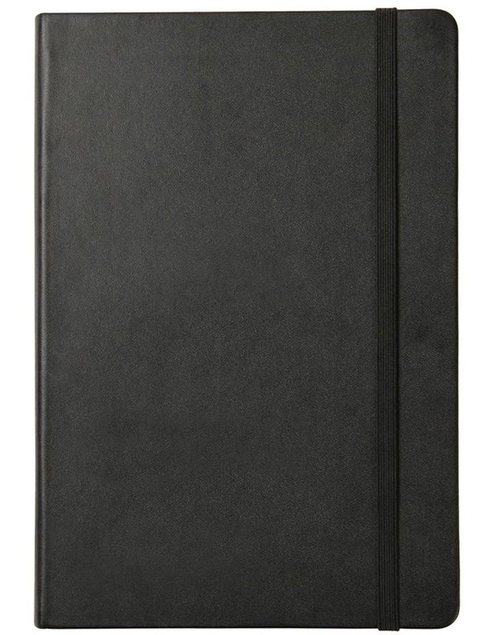 Agenzio Medium Black Hardback Plain Notebook image 1
