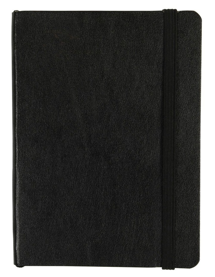 Agenzio Small Black Soft Lined Notebook image 1