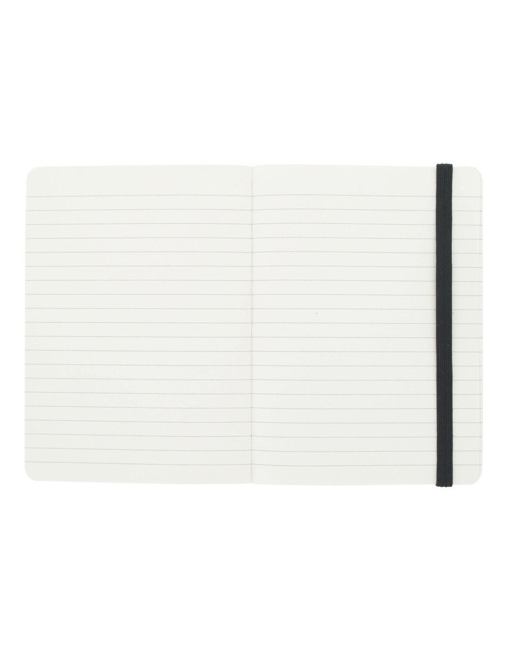 Agenzio Small Black Soft Lined Notebook image 2