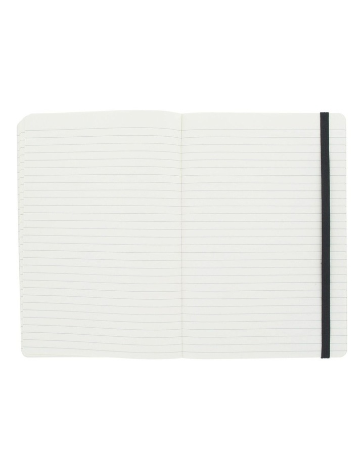Agenzio Medium Black Soft Ruled Notebook image 2