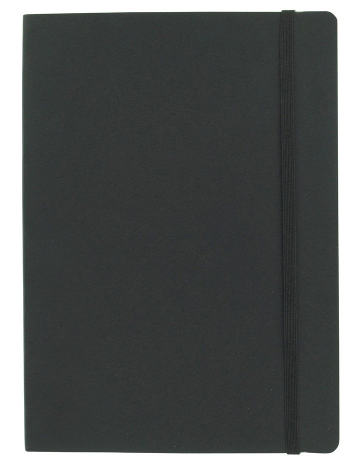 Agenzio Large Black Soft Lined Notebook image 1