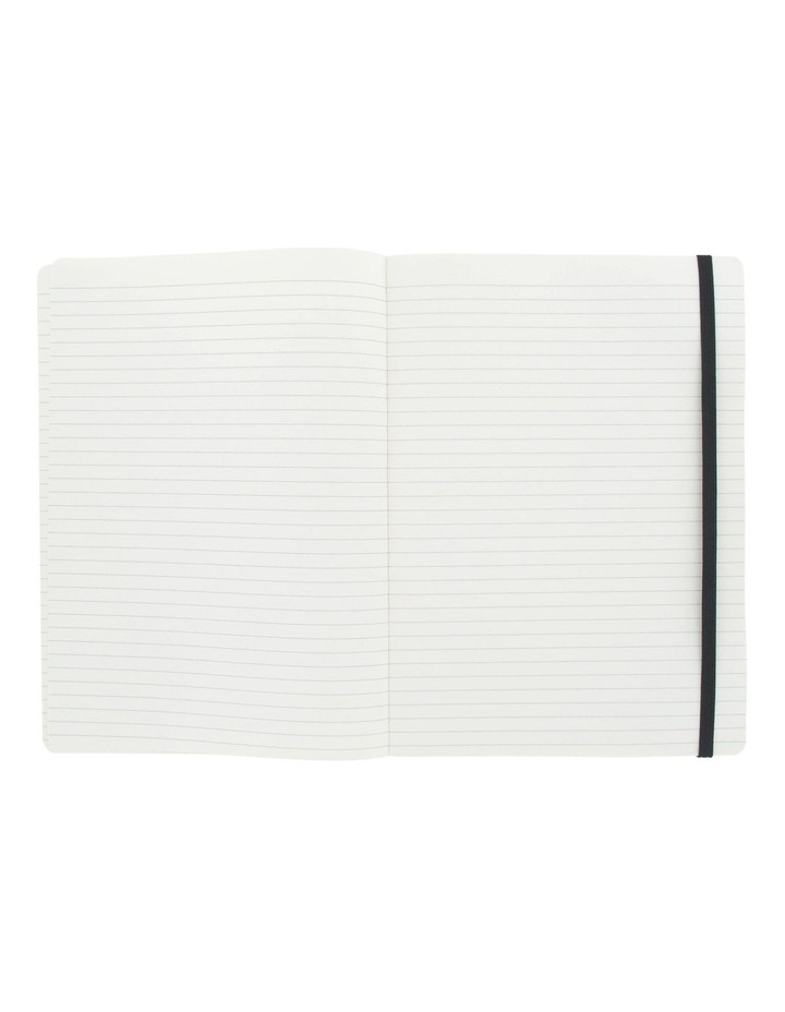 Agenzio Large Black Soft Lined Notebook image 2