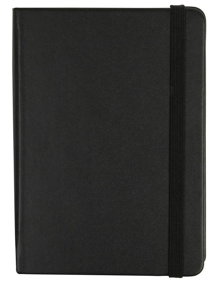 Agenzio Small Black Hardback Grid Notebook image 1