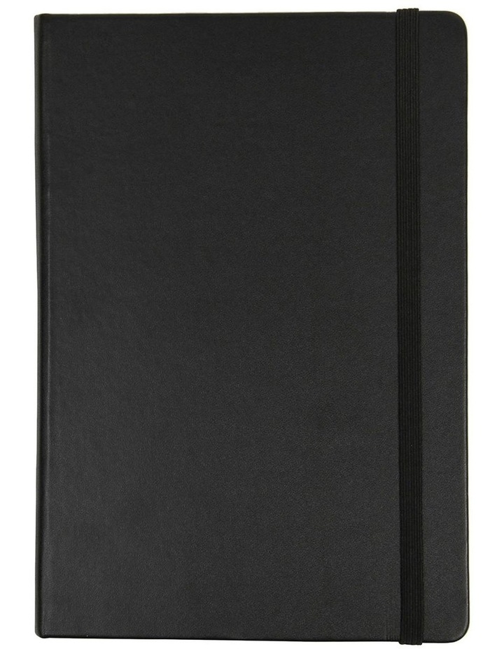 Agenzio Medium Black Grid Notebook image 1
