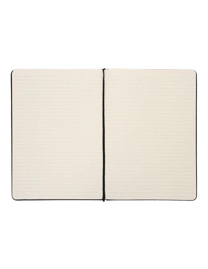 Paperchase Agenzio Large Black Ruled Notebook image 2