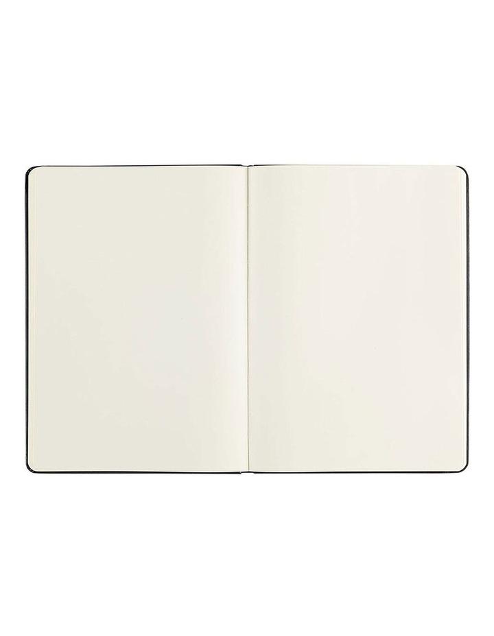 Paperchase Agenzio Large Black Hardback Plain Notebook image 2