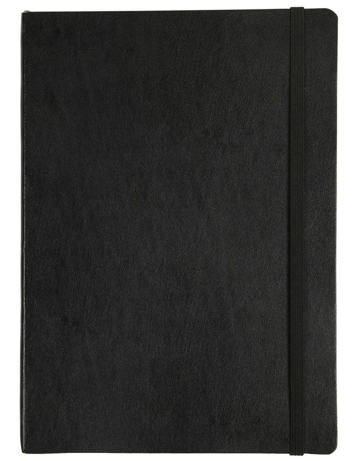 Agenzio Large Black Soft Plain Notebook image 1