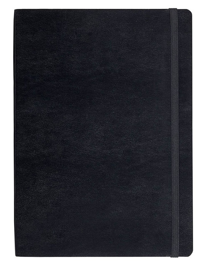 Paperchase Agenzio Medium Thick Black Soft Ruled Notebook image 1