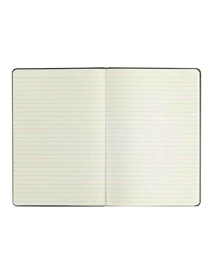 Paperchase Agenzio Medium Thick Black Soft Ruled Notebook image 2